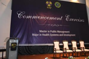 COMMENCEMENT EXERCISES MASTER IN PUBLIC MANAGEMENT MAJOR IN HEALTH SYSTEMS AND DEVELOPMENT BATCH 7 & 8   (OCTOBER 24, 2017)